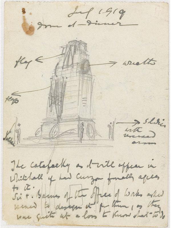 Edwin Lutyens' Cenotaph drawings