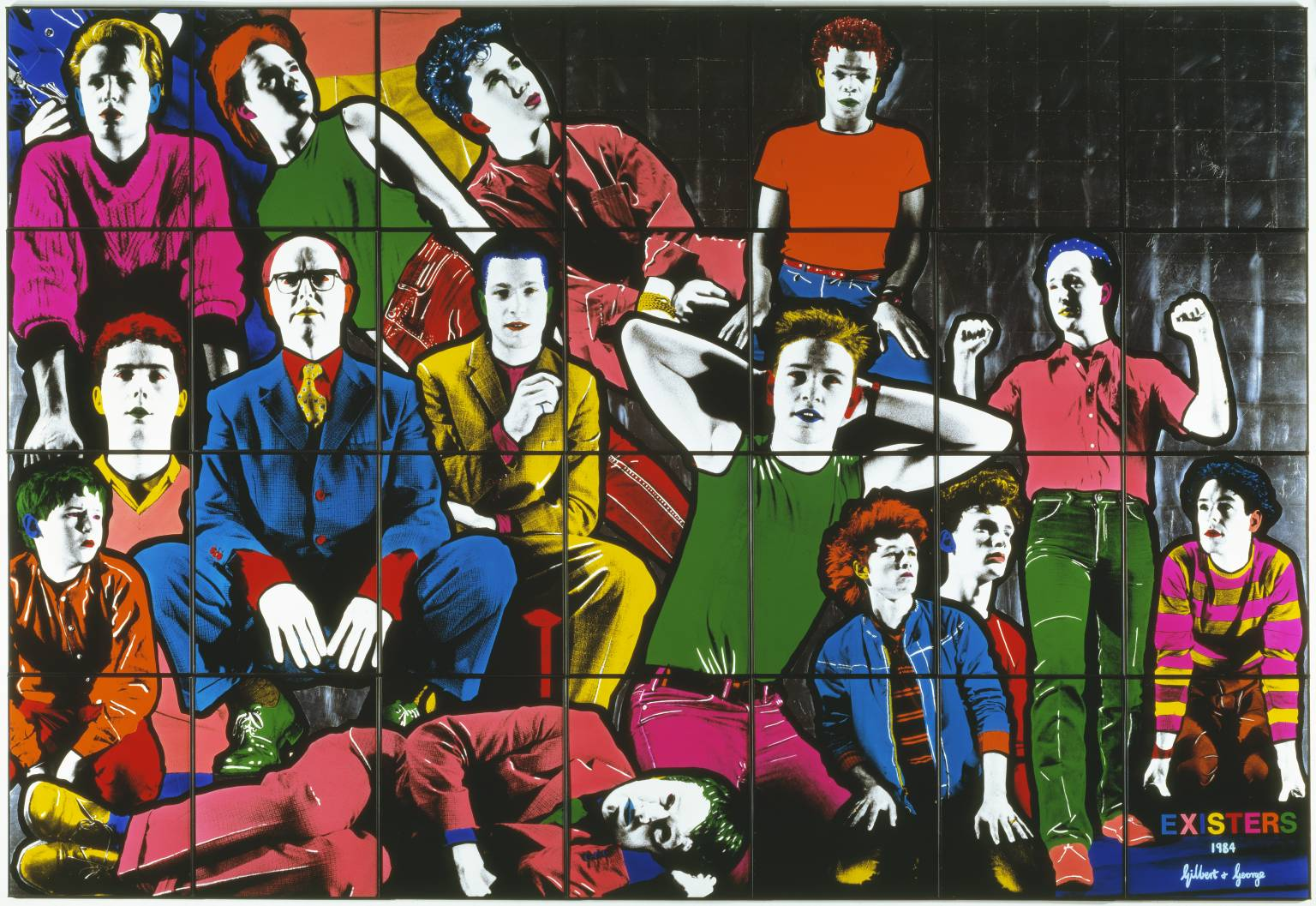 Gilbert and George's Existers, part of the Anthony d'Offay Collection