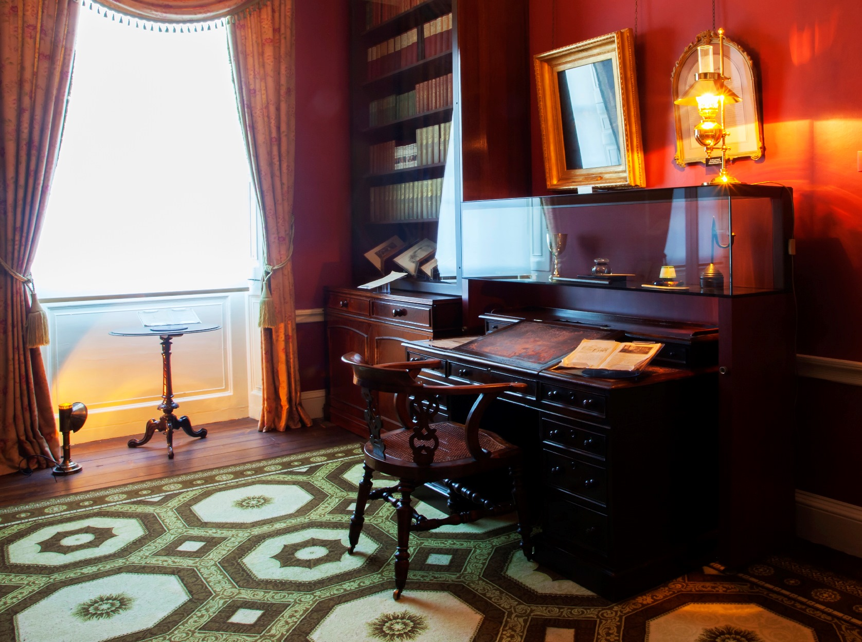 Dickens's desk and chair
