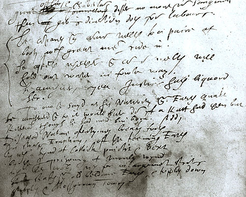 Water Scott manuscript with his own annotations