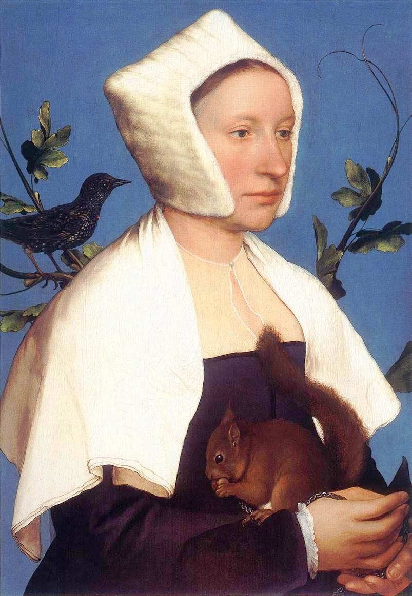 Hans Holbein the Younger's 'A Lady with a Squirrel and a Starling'